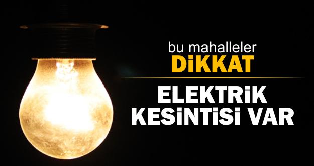 Afşin'de Salı Günü Bazı Mahallelerde Elektrik Kesintisi Olacak.