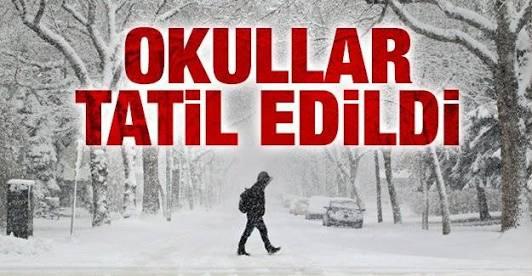 Afşin'de Okullar 1 Gün Tatil Edildi.