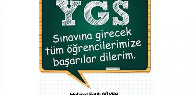 Başkan Güven YGS'ye Girecek Öğrencilere Başarılar Diledi.