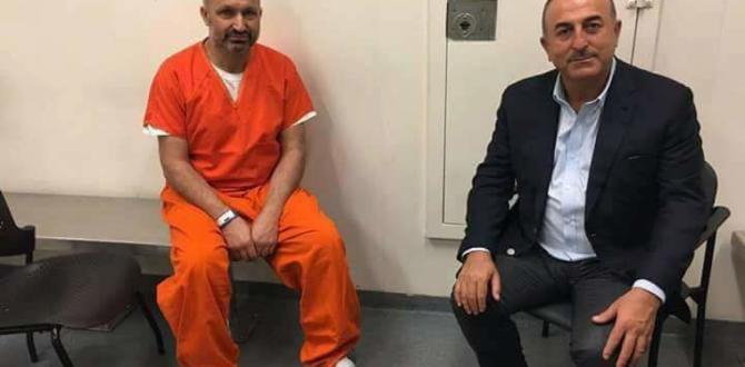 Çavuşoğlu ABD'de Tutuklu 2 Türkü Ziyaret Etti.