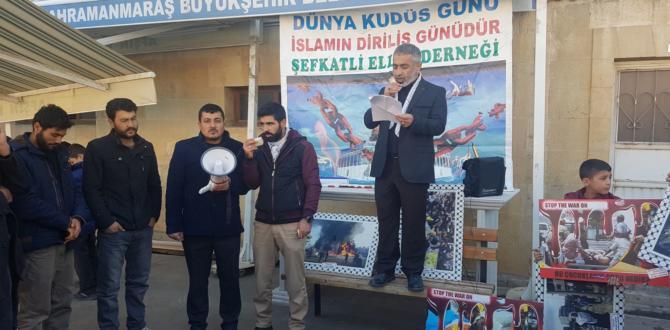 Afşin'de Cuma Çıkışı Kudüs Protestosu!