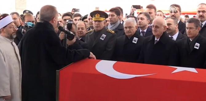 Afrin şehidi uğurlandı! Erdoğan'dan sert mesaj