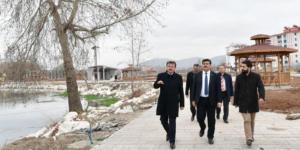 BAŞKAN ERKOÇ ELBİSTAN'DA İNCELEMELERDE BULUNDU.
