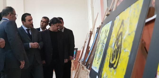 Ebru Sanatı Sergisi Açıldı.