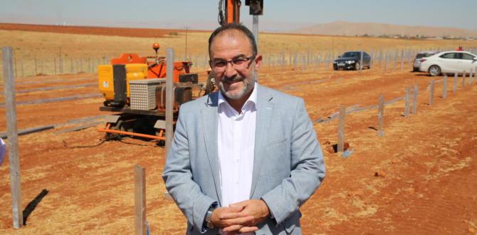 AFŞİN'E GÜNEŞ ENERJİ SANTRALİ KURULUYOR.