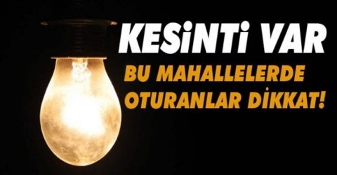 AKEDAŞ Afşin'de Elektrik Kesintisi Yapacak.