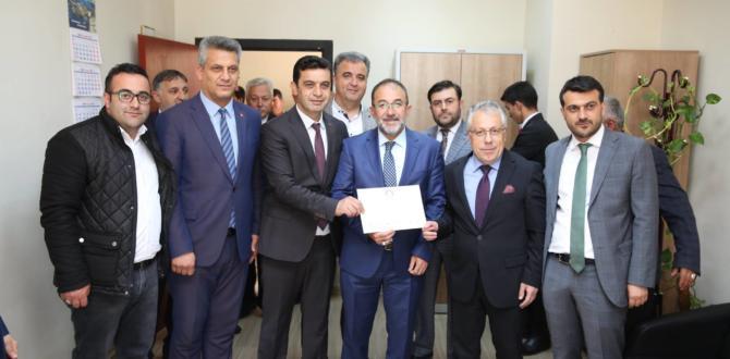 Mehmet Fatih Güven Mazbatasını Aldı.