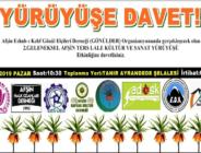 2. Geleneksel Ters Lale Kültür ve Sanat Yürüyüşü yapılacak!