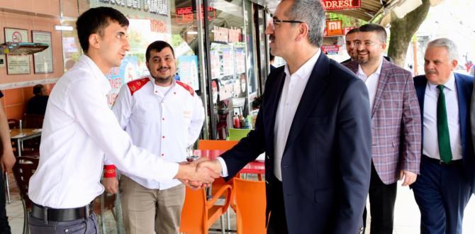 BAŞKAN GÜNGÖR'DEN ESNAF VE VATANDAŞ ZİYARETİ.