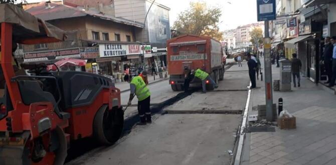 Atatürk Caddesinde Doğalgaz Çalışmaları Tamamlandı!