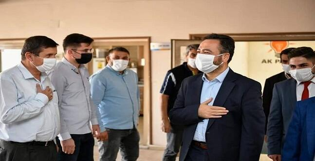 Başkan Gürbüz'den, İlçe Başkanı İsmail Safi'ye Tebrik Ziyareti.