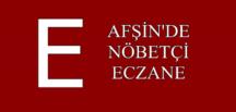 AFŞİN'DE NÖBETÇİ ECZANE 29 KASIM