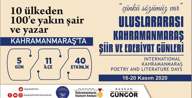 Uluslararası Şiir ve Edebiyat Günleri Başlıyor!