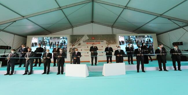 Kahramanmaraş-Göksun Yolu Düzenlenen Törenle Açıldı.