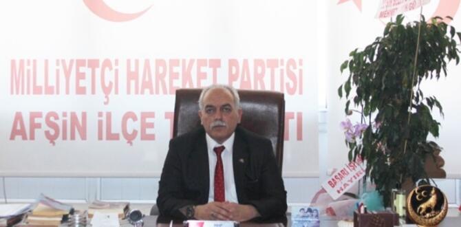 MHP Afşin İlçe Başkanı Süleyman Aycan'ın Yeni Yılı Mesajı!