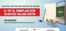 Büyükşehir'den Ücretsiz Çevrimiçi Eğitim!