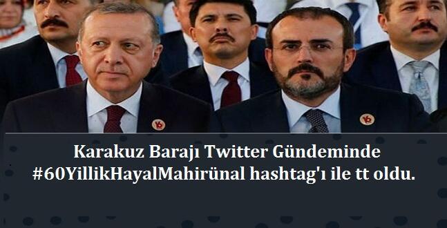 Afşin Karakuz Barajıyla Twitter'da TT Oldu.