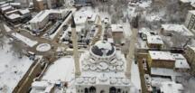 Afşin'in Kar Manzarası Havadan Görüntülendi.