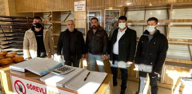 MHP ve Afşin'li Fırıncılar, Şehit Çakıroğlu Anısına Askıya Ekmek Astılar