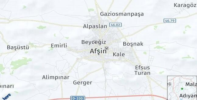 Afşin'nin Mahalle Nüfus Sayısı