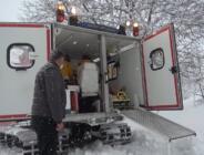 Göksun'da, Yaylada Mahsur Kalan Hastaya Paletli Ambulansla Ulaşıldı