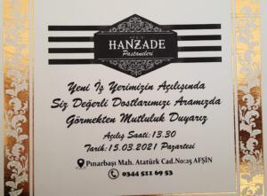 20210313 142829 300x221 Afşin Hanzade Pastaneleri, Açılış Daveti!