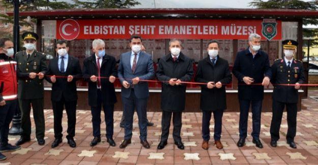 Elbistan'da Gazi ve Şehit Emanetleri Müzesi Açıldı