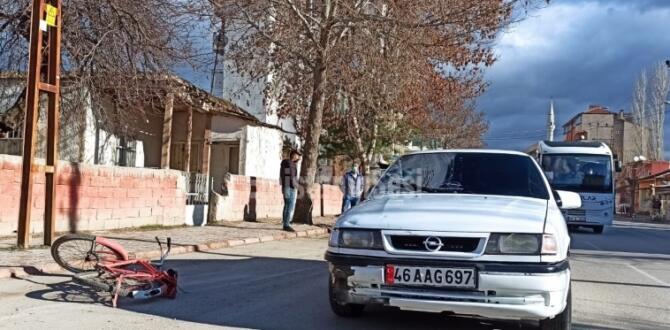 Elbistan'da Trafik Kazasında Bisiklet Sürücüsü Yaralandı