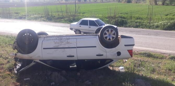 Elbistan'da Otomobilin Takla Atması Sonucu 1 Kişi Yaralandı!