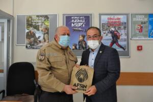 DSC 0190 1 300x199 İlçe Emniyet Müdürü Metin Cengiz'e, Polis Haftası Ziyareti!