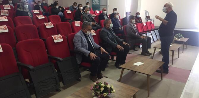 """Afşin'de Okul Müdürlerine""""Yönetimden Kuruma Kurum Kültürü Teknik Destek """"Eğitimi"""