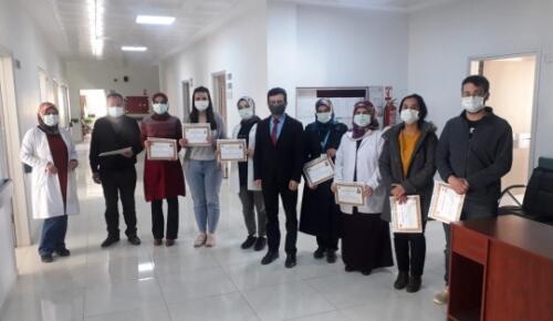 """Kaymakam Pınar ,""""Sağlık Çalışanlarımıza Minnettarız"""""""