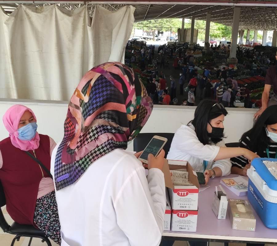%name Afşin Semt Pazarın da, Kovid 19 Aşısı Yapıldı!