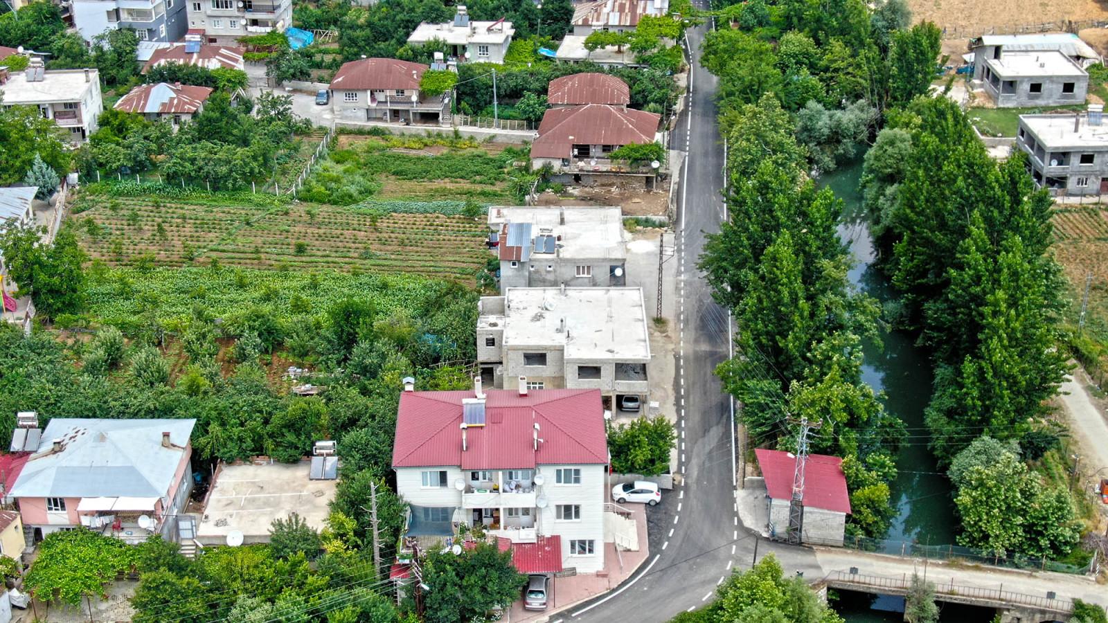 dongel mahallesi yol asfalt cizgi 4 Döngel Mağaralarının Ulaşım Sorunu Çözüldü