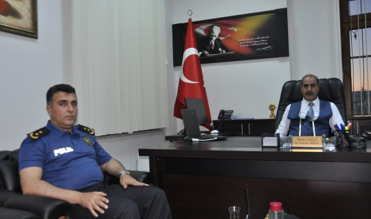 il emniyet muduru salim cebeloglu afsini ziyaret etti h31688 1a05e Cebeloğlundan , Afşin İlçe Emniyet Müdürlüğüne Ziyaret!