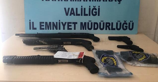 Kahramanmaraş'ta 24 adet silah ele geçirildi