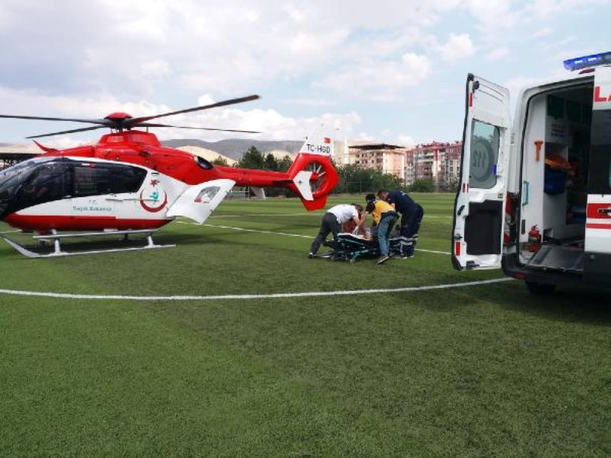 Son dakika haber: Kalp krizi geçirdi, ambulans helikopterle hastaneye ulaştırıldı