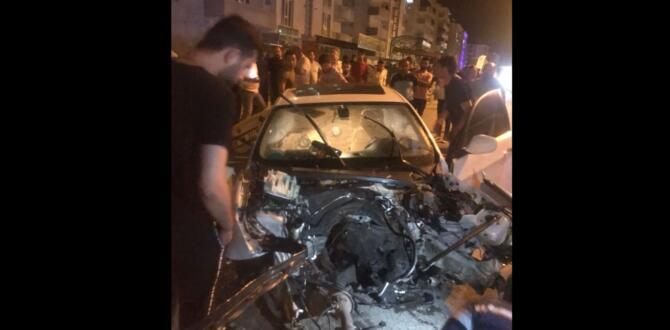 Afşin'de Trafik Kazası 3 Yaralı
