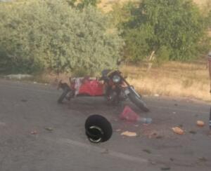 %name Afşinde Otomobil ile Motosiklet Çarpıştı