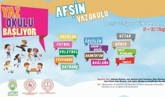 Afşin'de, çocuklar ve gençler için yaz spor okulları kaydı başladı