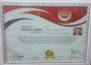 %name TUTAP'tan Başkan Can'a Turizm Elçisi Beratı