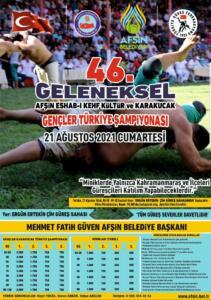 %name Afşin 46. Güreş Festivali 21 Ağustosta