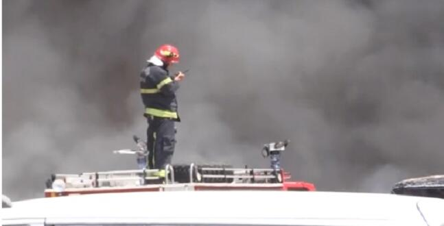 Kahramanmaraş'ta Yediemin Otoparkında Yangın!